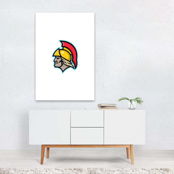 Achilles Greek Hero Mascot Art Print