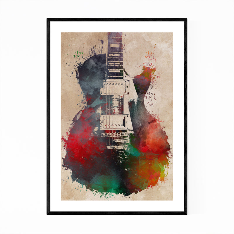 Guitar Player Musician Gift Music Framed Art Print