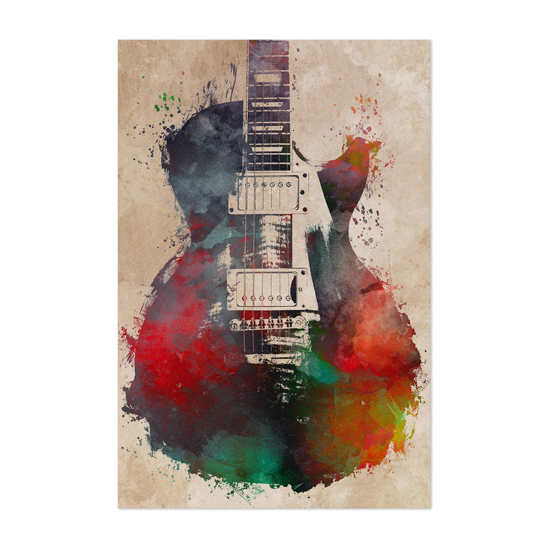 Guitar Player Musician Gift Music Art Print