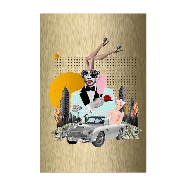 Cars Feminine Action Movies Collage Art Print