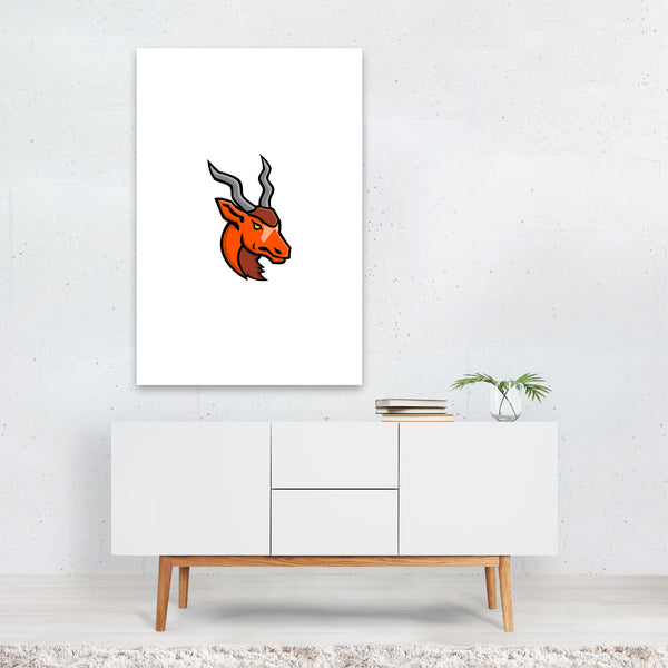 Addax Head Mascot Art Print