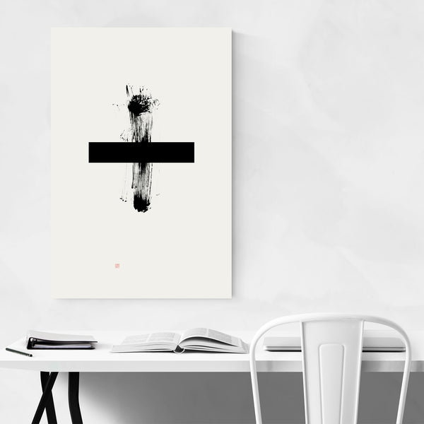 Plus Sign Abstract Minimal Art Print