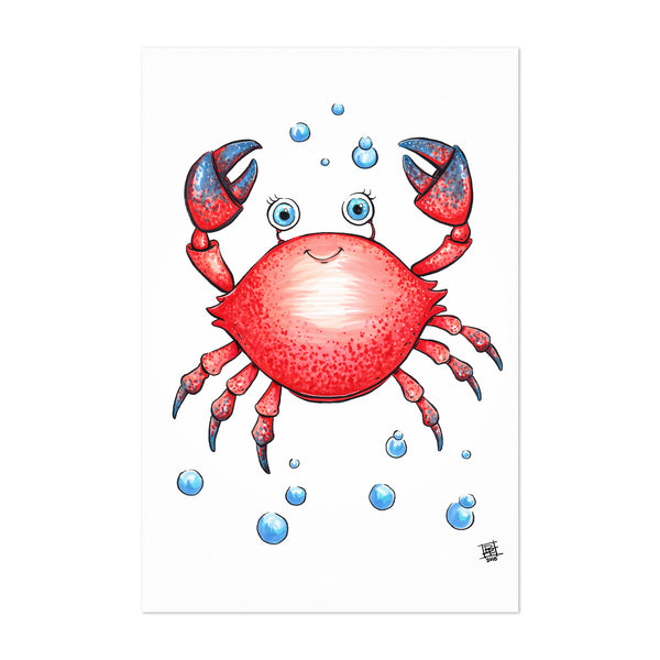 Crab Ocean Childrens Art Nursery Art Print