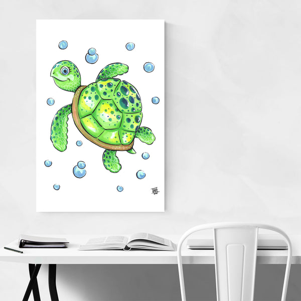 Cute Sea Turtle Kids Art Nursery Art Print