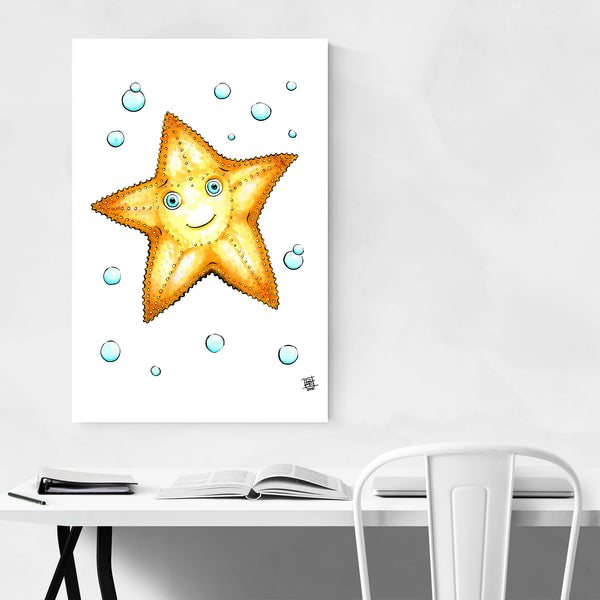 Cute Starfish Kids Art Nursery Art Print