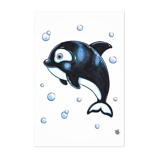 Cute Whale Kids Art Nursery Art Print