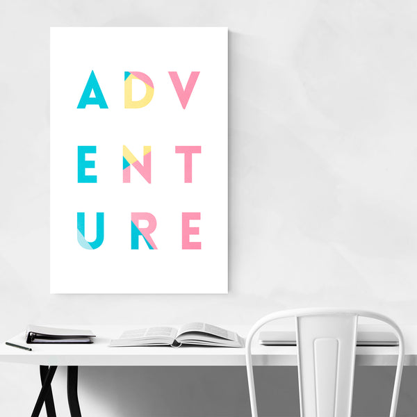Adventure Typography Color Art Print