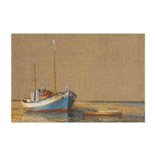 Nautical Boat Maritime Oil Painting Art Print