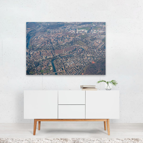 Bern City Switzerland Aerial Photo Art Print