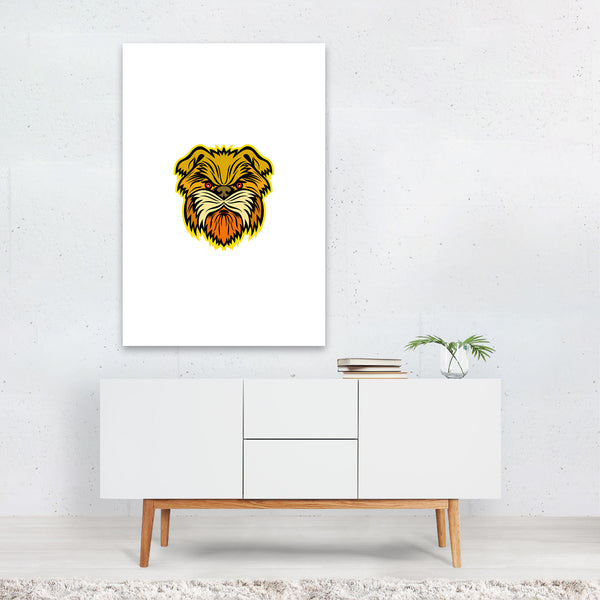 Affenpinscher Monkey Dog Mascot Art Print