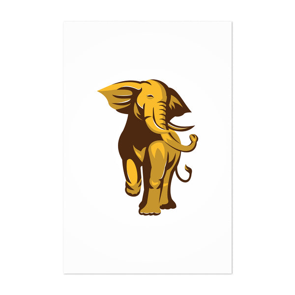 African Bull Elephant Animal Art Print