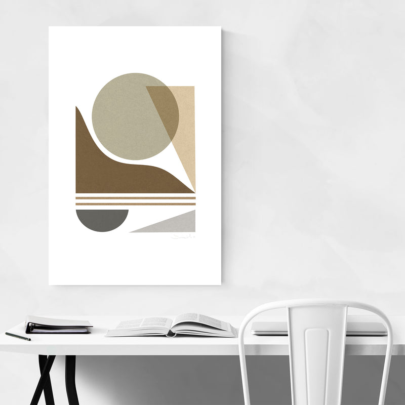 Modern Abstract Geometric Collage Art Print