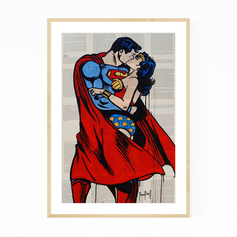 Superman Superwoman Love Framed Art Print
