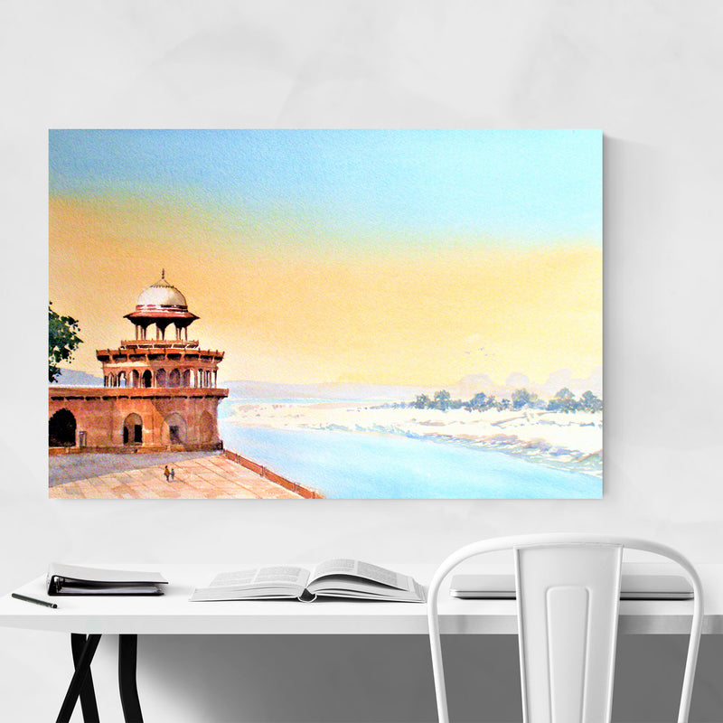 Agra India Fort Painting Art Print