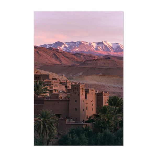 Ancient City Mountains Morocco Art Print