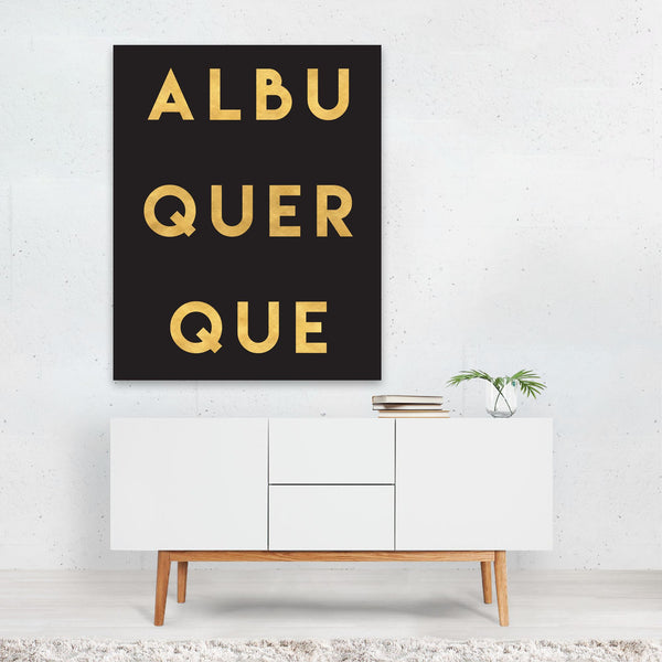 Albuquerque New Mexico Typography Art Print
