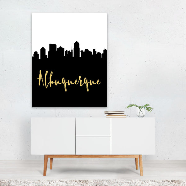 Albuquerque New Mexico Skyline Art Print