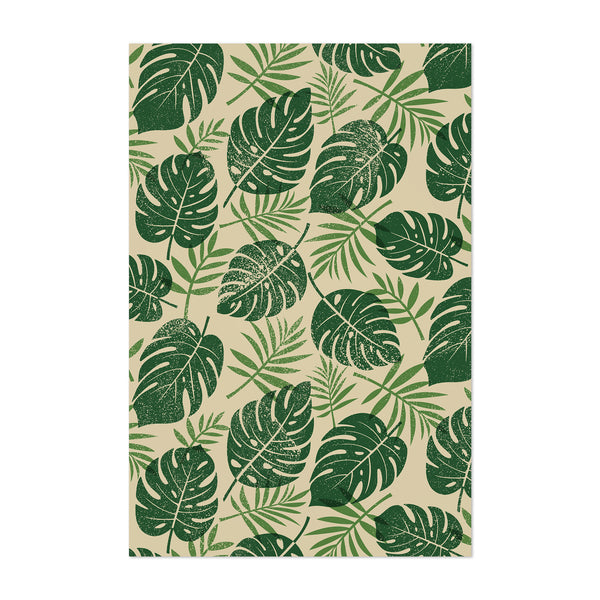 Tropical Monstera Leaf Botanical Art Print