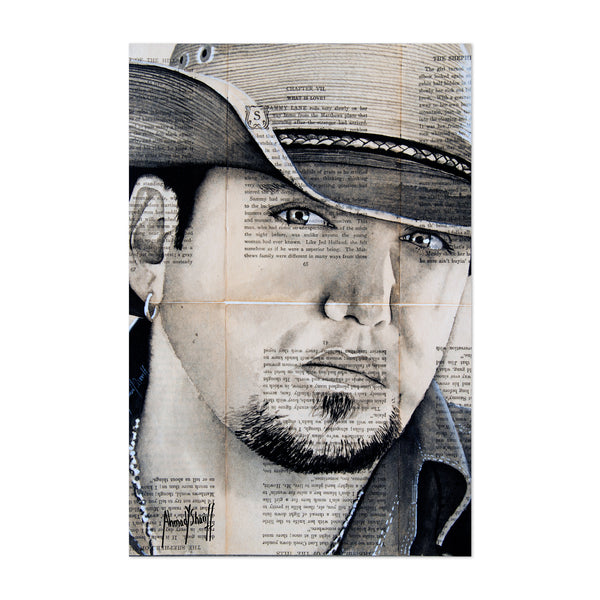 Jason Aldean Country Music Art Print