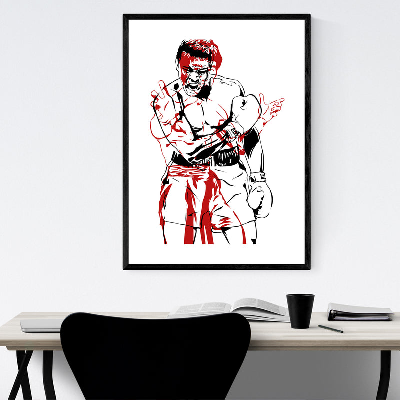 Bruce Lee Muhammad Ali Framed Art Print