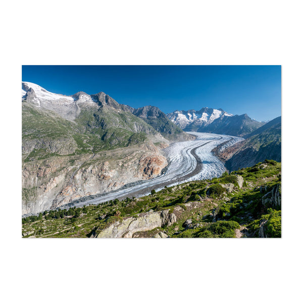 Aletsch Switzerland Mountains Glacier Art Print