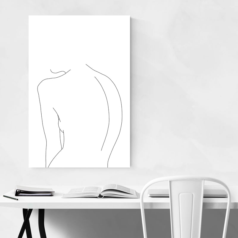Nude Minimal Line Drawing Art Print
