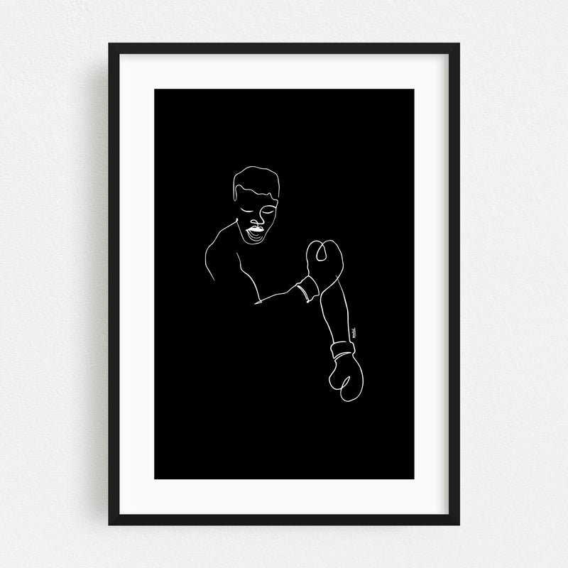 Sports Boxing Muhammad Ali Framed Art Print