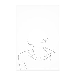 Neck Minimal Line Drawing Art Print