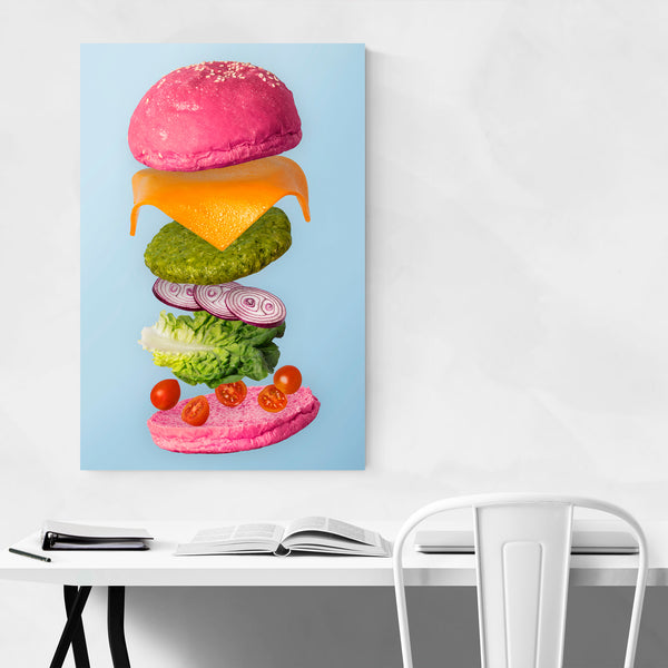 Burger Food Funny Weird Kitchen Art Print