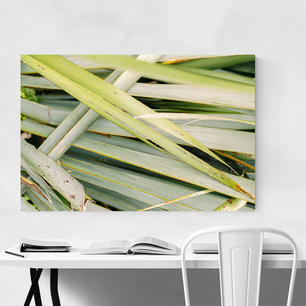 Abstract Green Leaves Botanical Art Print