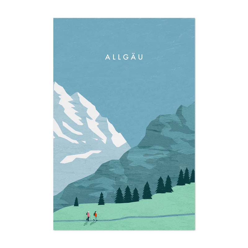 Allgäu Germany Vintage Travel Art Print