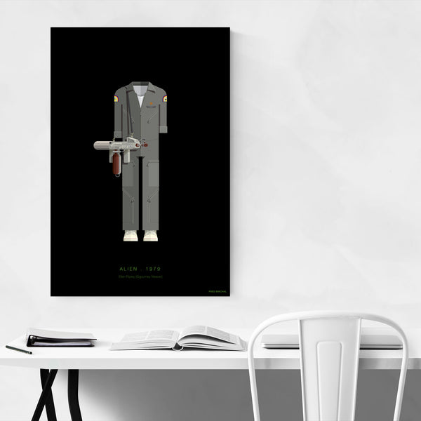 Alien Ellen Ripley Illustration Art Print