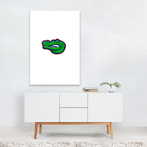 Alligator Head Mascot Art Print