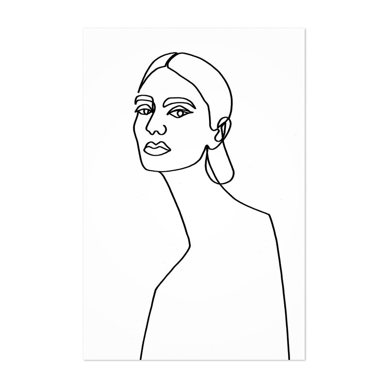 Abstract Feminine Line Drawing Art Print