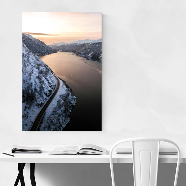 Norway Fjords Nature Photography Art Print