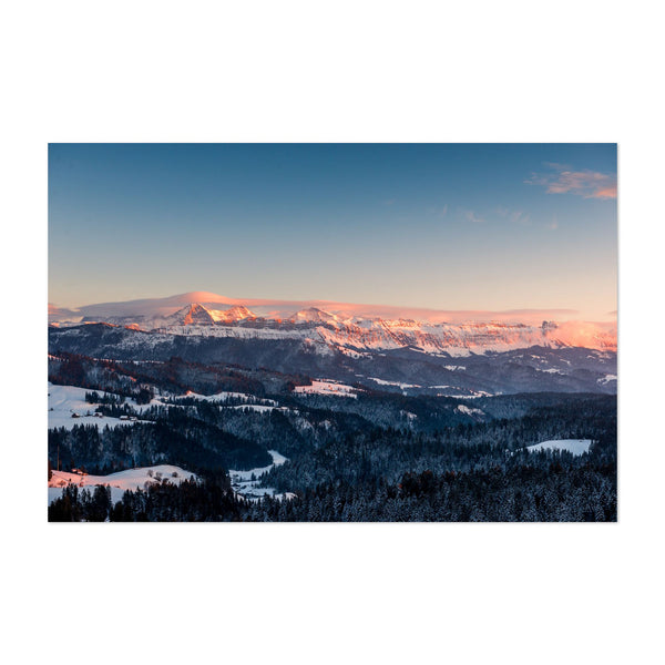 Emmental Switzerland Winter Mountains Art Print