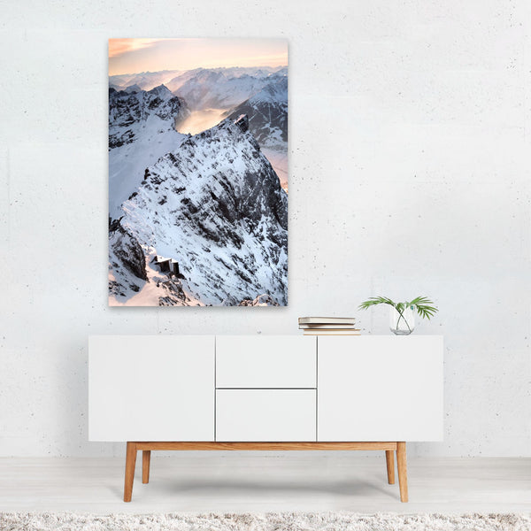 Germany Mountains Winter Nature Photo Art Print