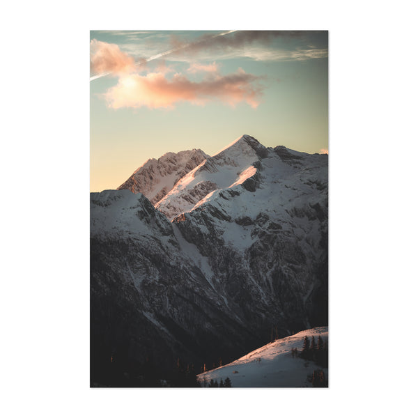 Slovenian Alps Mountains Nature Art Print