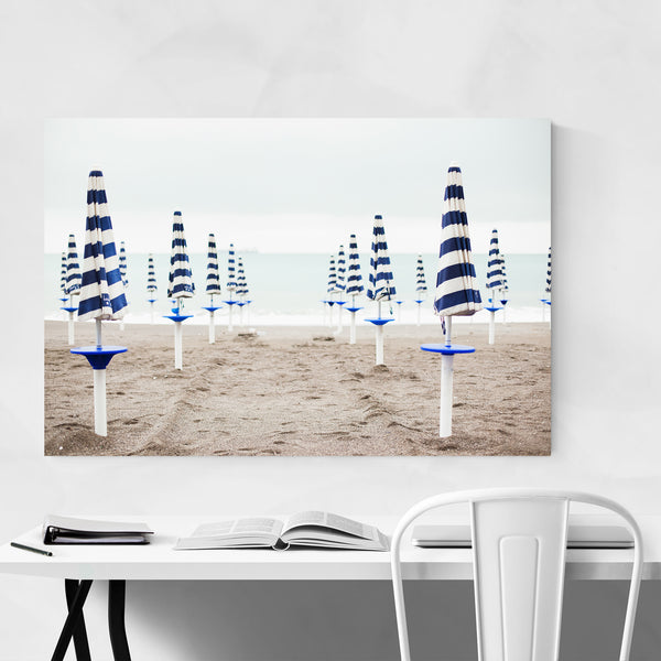 Amalfi Coast Italy Umbrellas Art Print