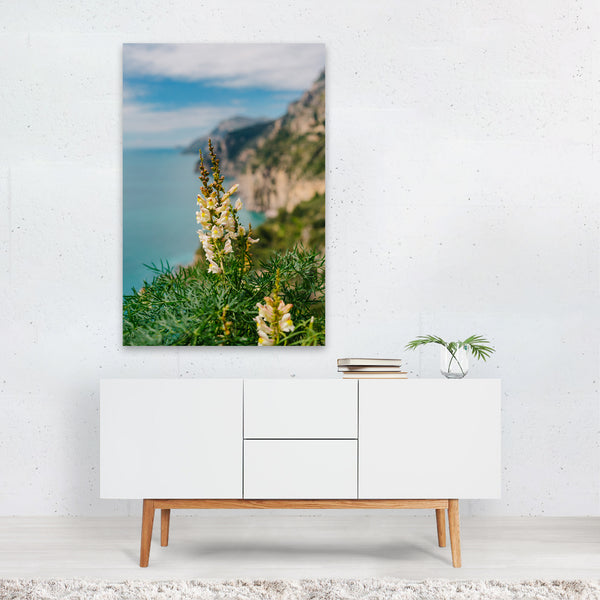 Positano Italy Beach Floral Photo Art Print
