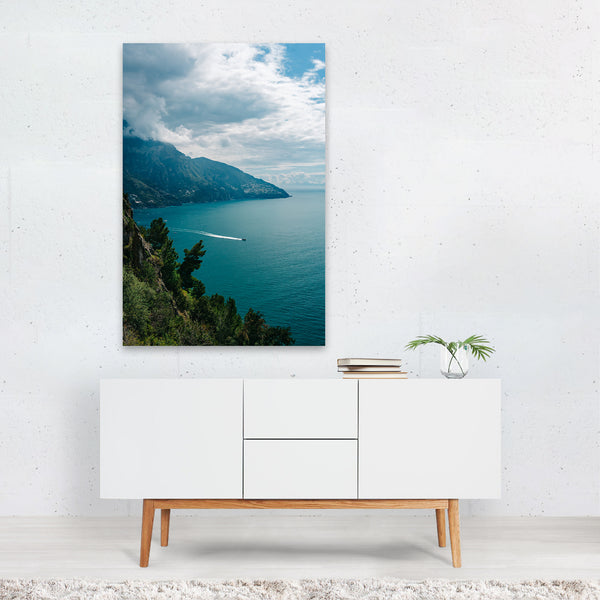 Positano Italy Beach Boat Nautical Art Print