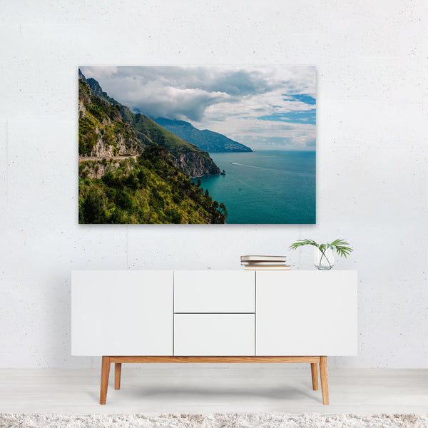 Positano Italy Beach Nature Photo Art Print