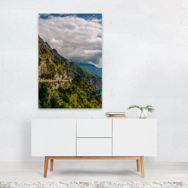Positano Italy Beach Mountains Photo Art Print