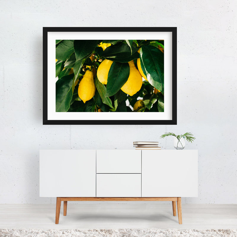 Positano Italy Beach Lemons Photo Framed Art Print