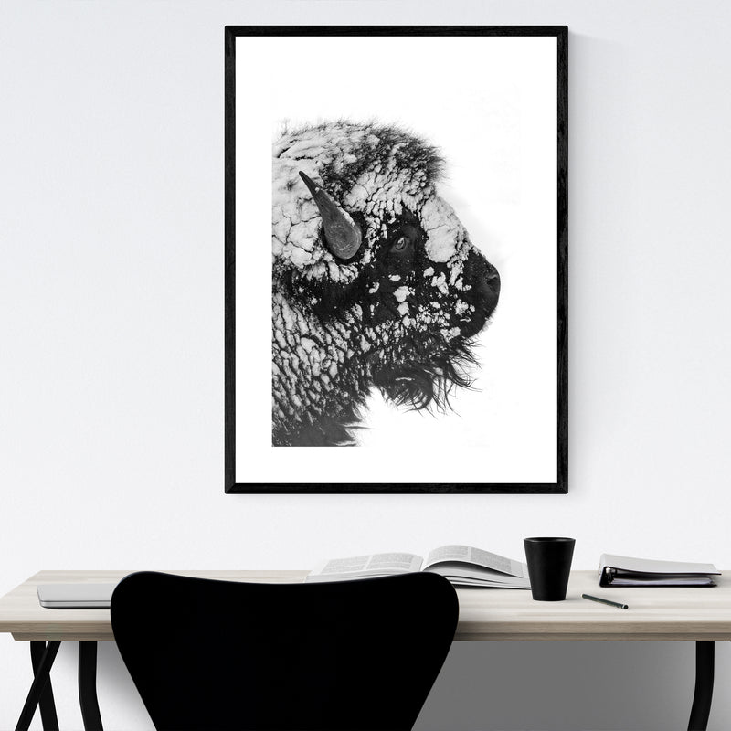 Bison Yellowstone National Park Framed Art Print