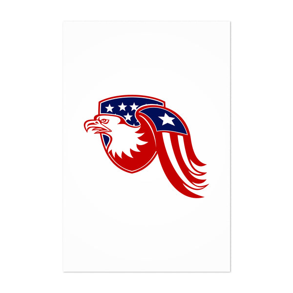American Bald Eagle Head Bird Art Print