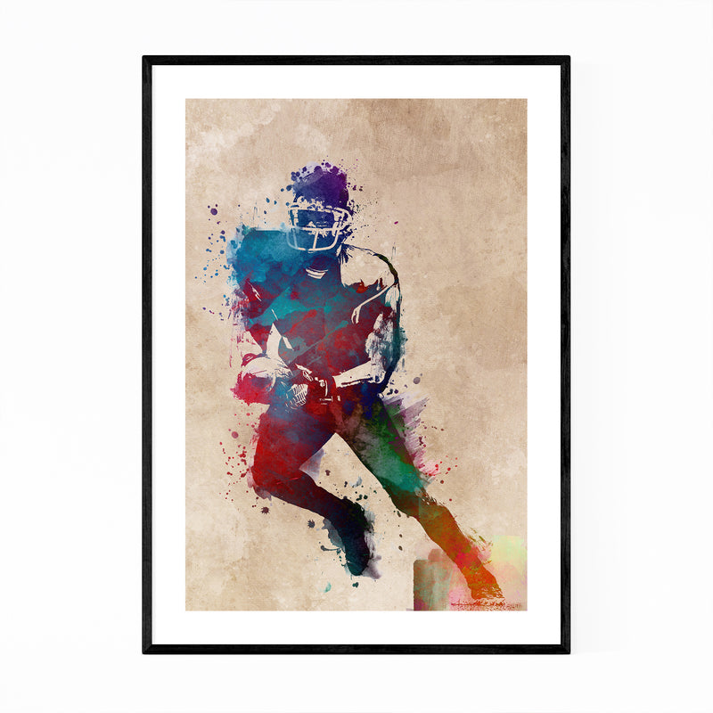 Football Player Fan Gift Sports Framed Art Print