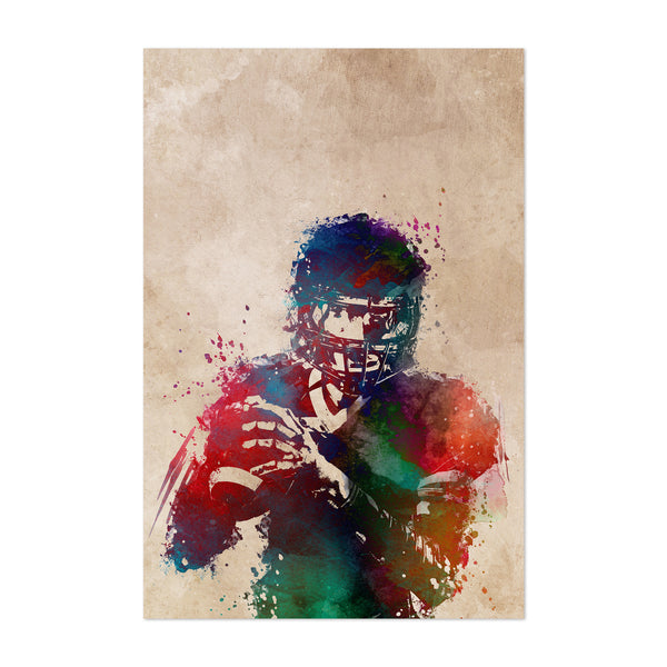 Football Player Fan Gift Sports Art Print
