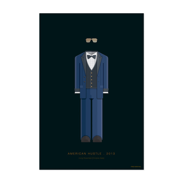 American Hustle Movie TV Illustration Art Print