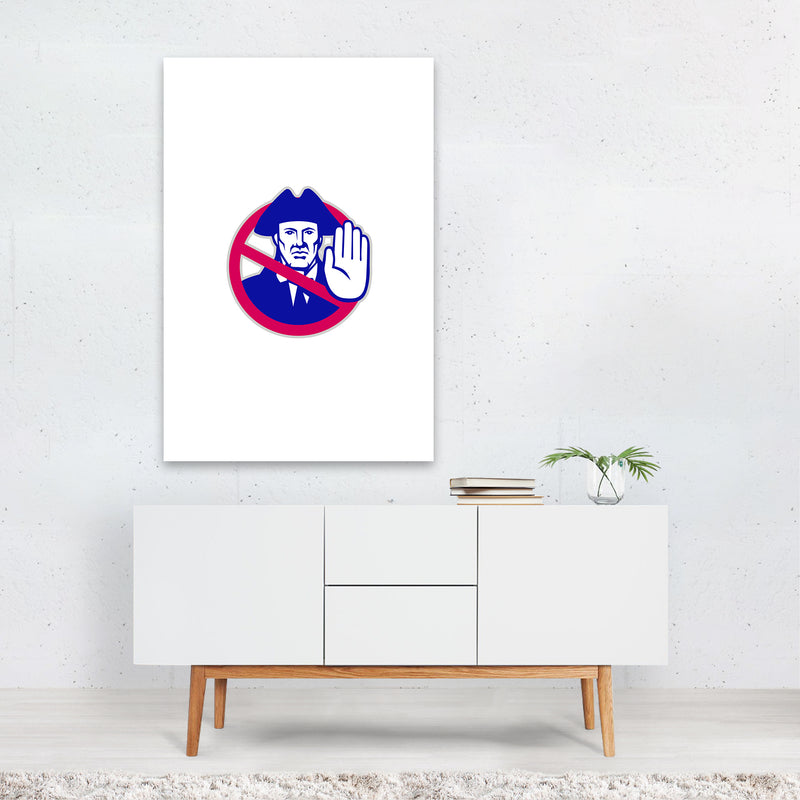 American Patriot Stop Sign Retro Art Print